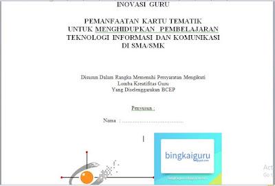 Download Contoh Laporan Karya Inovatif Guru Sma Smk Bingkaiguru