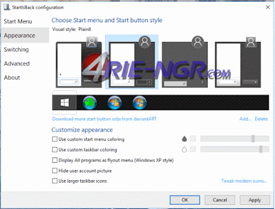 StartIsBack++ 1.3.4 Windows 10 & StartIsBack++ 1.7.5 Windows 8.1