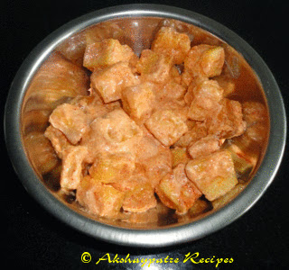 marinate the paneer with yogurt , salt and chilli powder