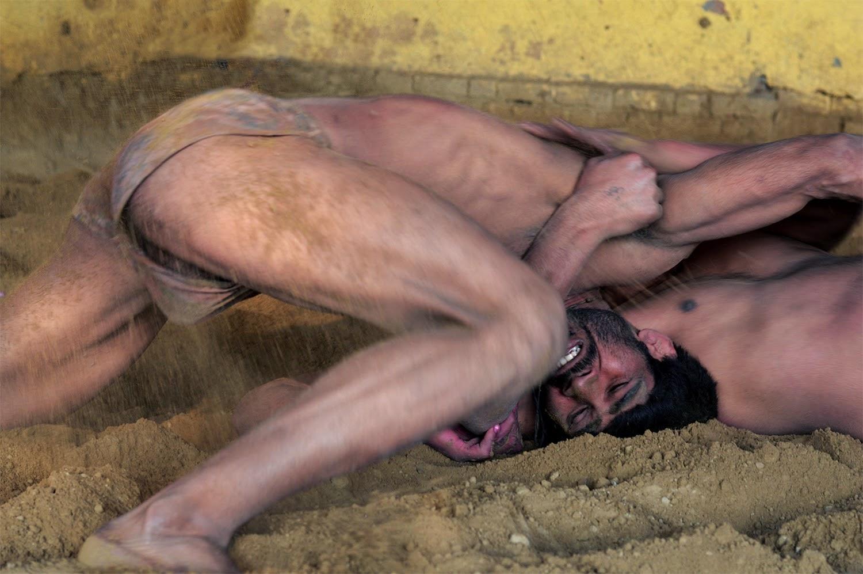 Indian Men doing Kushti in Mathura akhara Places to see in Mathura makes langot bulge diskslip