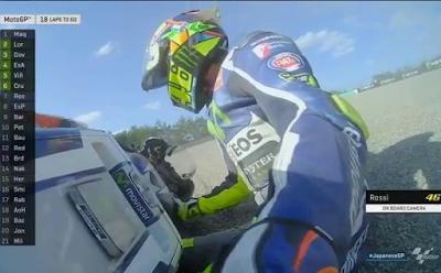 Rossi Jatuh di Lap ke-6 di Race MotoGP Jepang