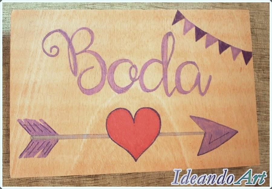 Cartel de acceso a boda