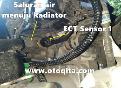 Gambar detail letak sensor suhu mesin honda brio