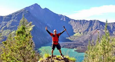 Plawangan Senaru Crater altitude 2641 m of mount Rinjani