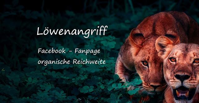 Löwenangriff - Facebook Fanpage deine Reichweite