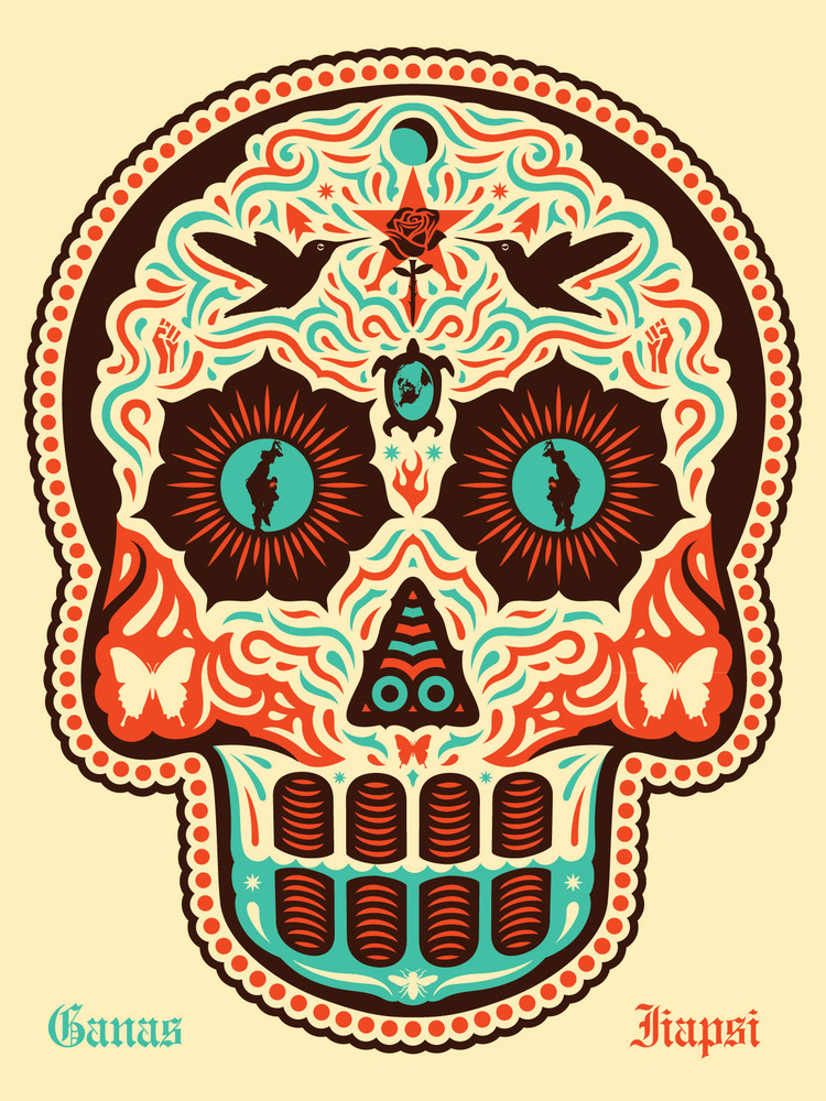 Inside The Rock Poster Frame Blog Yaqui Dia De Los Muertos Print By
