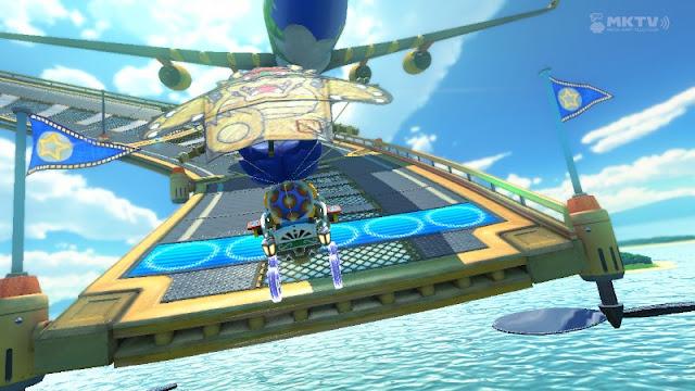 Mario Kart 8 Sunshine Airport airplane plane Ludwig Von Koopa