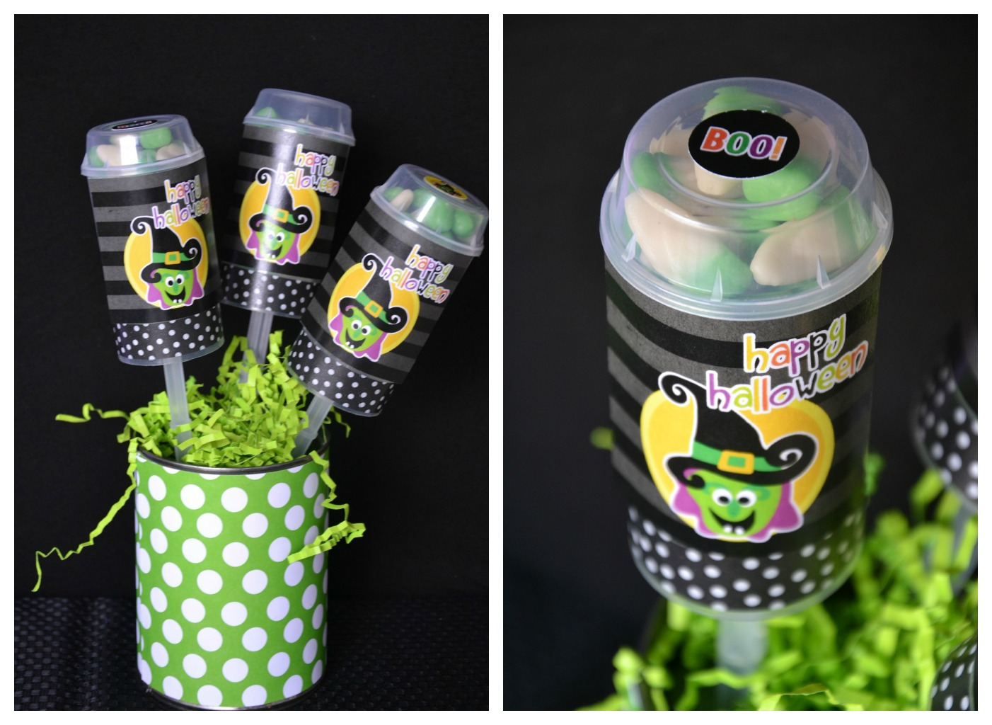 Halloween PushUp Pops Halloween Crafts Using Jars