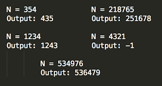 Find next greater number with same set of digits