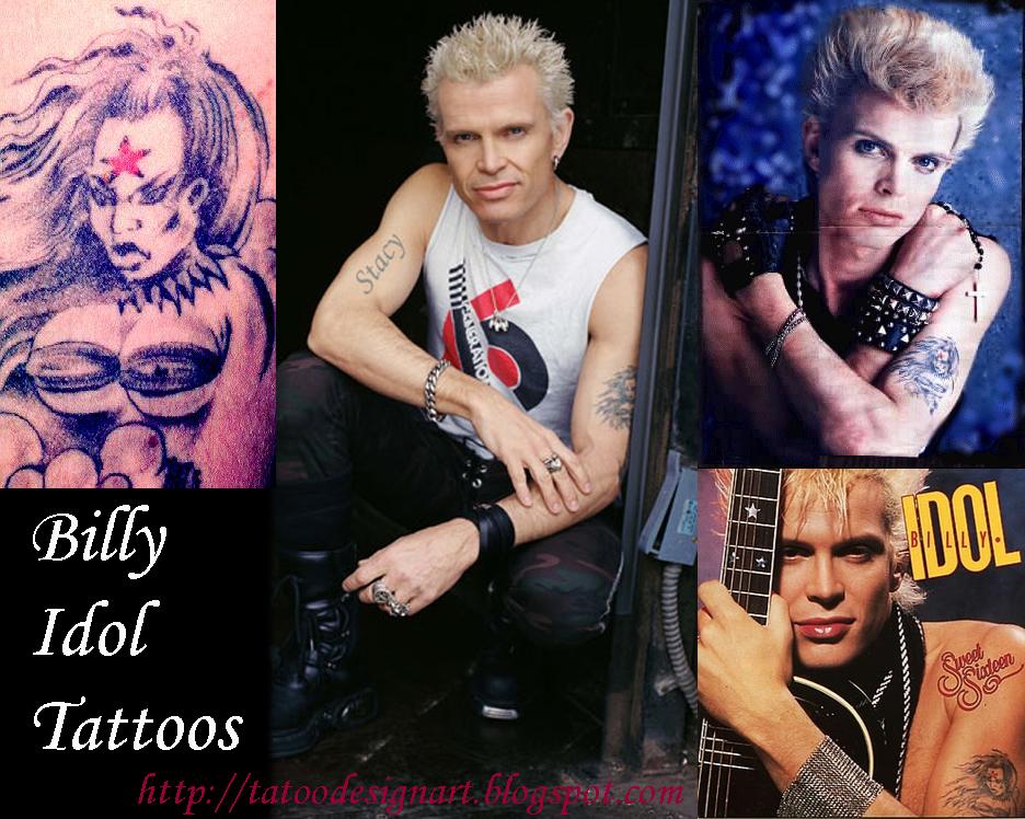 Tattoo Design Billy Idol Tattoos Male Celebrity Tattoo
