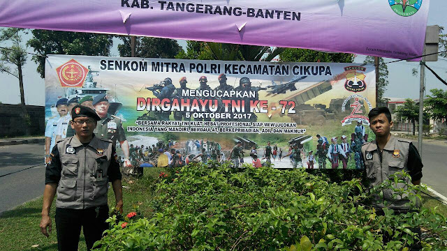 HUT TNI KE 72 DARI SENKOM CIKUPA