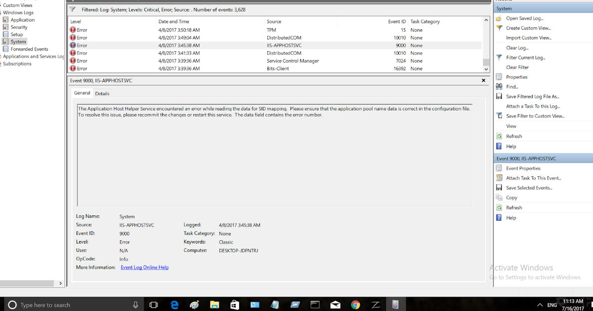 Troubleshooting Windows Errors And Solutions: IIS-APPHOSTSVC