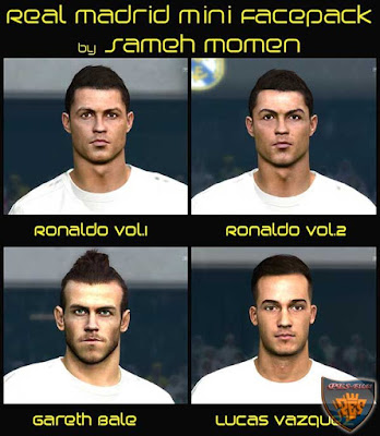PES 2016 Real Madrid mini facepack by Sameh Momen