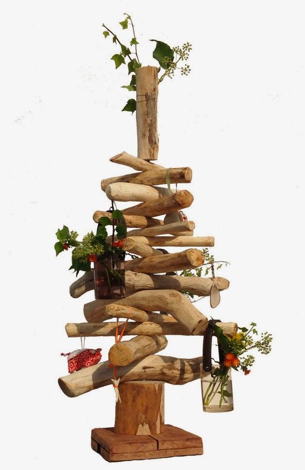 Rboles de navidad en madera colores en casa Arbol navidad madera