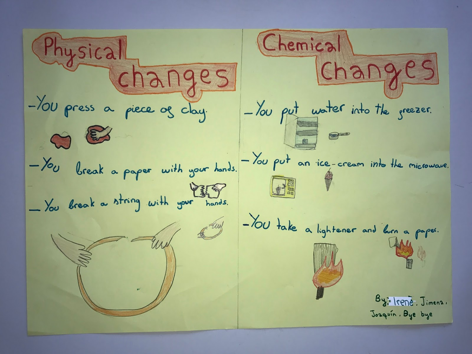 When One Teaches Two Learn Physical And Chemical Changes