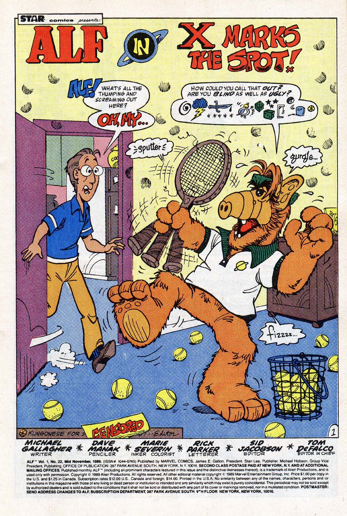 Read online ALF comic -  Issue #22 - 2