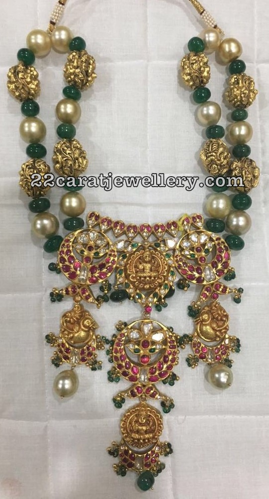 Nakshi Balls Emerald Beads Exclusive Set