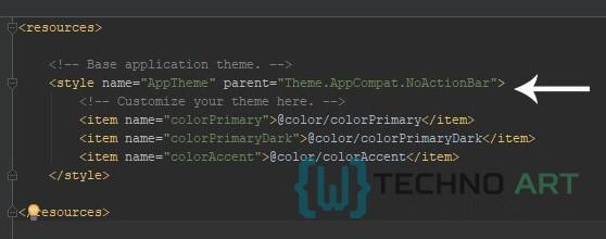 Menghapus ActionBar atauToolBar pada Android Studio