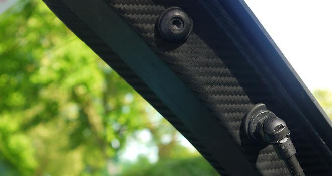 Toyota Prius Plug-in carbon fibre tailgate