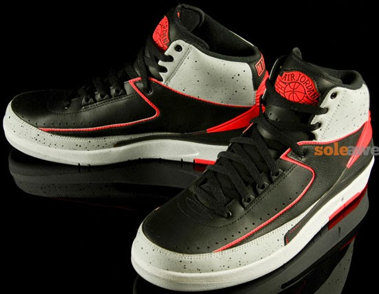 newest collection 34f37 4e3a4 Air Jordan 2 Retro Black Infrared 23-Pure Platinum-White April 2014