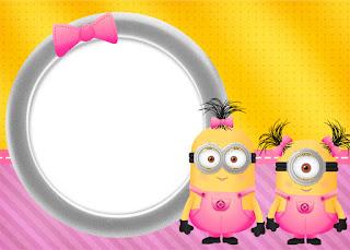 Minion Girls Free Printable Invitations Oh My Fiesta
