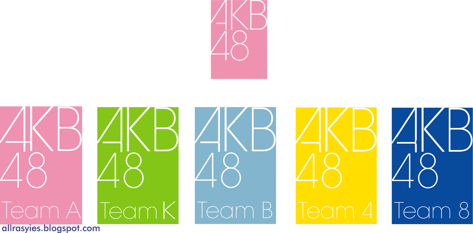 List Official Color All Team in AKB48 Group Family | AllRasyies