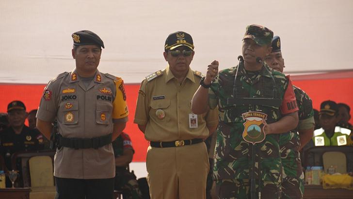 Ini Arahan Dandim 0703/Cilacap Pada Apel Pergeseran Pasukan Dalam Rangka Pengamanan Pemilu 2019