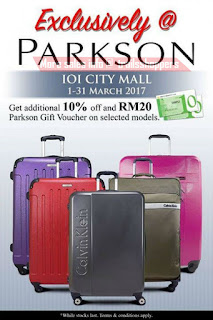 Parkson IOI City Mall Luggage Promotion 2017