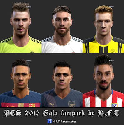 PES 2013 Gala Facepack by H.F.T