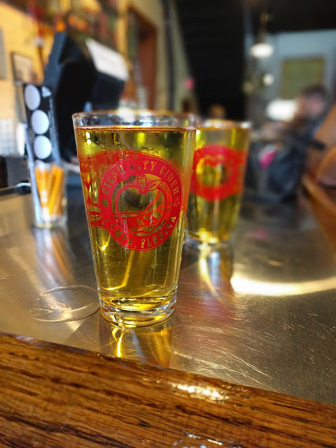 Pints of cider from Cigar City Cider and Mead