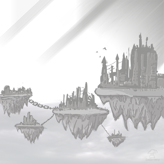 isles of Drought - floating islands chained together