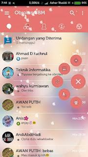 BBM Love Story V3.0.1.25 Apk Terbaru Gratis