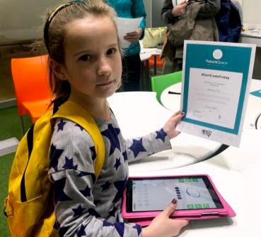 Girl with certificate #GirlCodeFriday