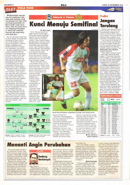 PIALA TIGER INDONESIA VS VIETNAM KUNCI MENUJU SEMIFINAL