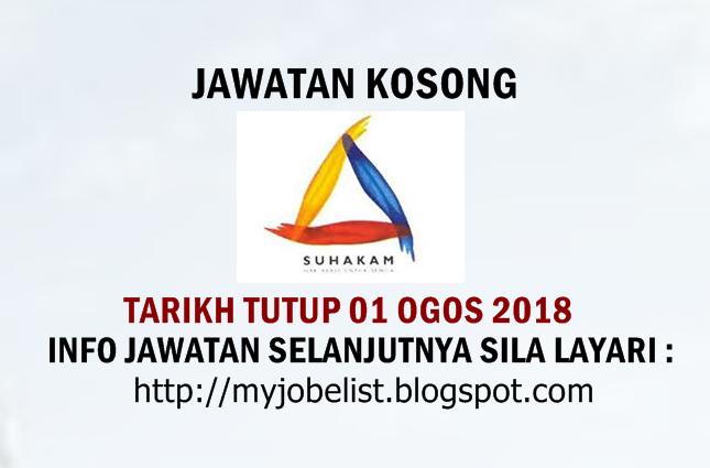 Jawatan Kosong Terkini di SUHAKAM Ogos 2018