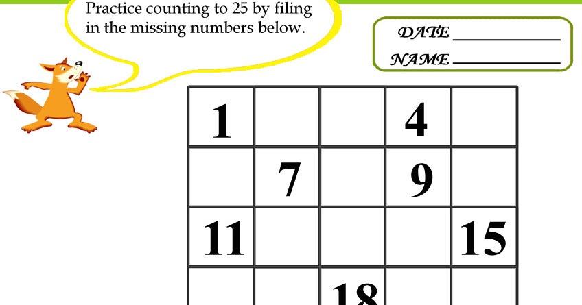 Missing Number Worksheet: NEW 519 MISSING NUMBER