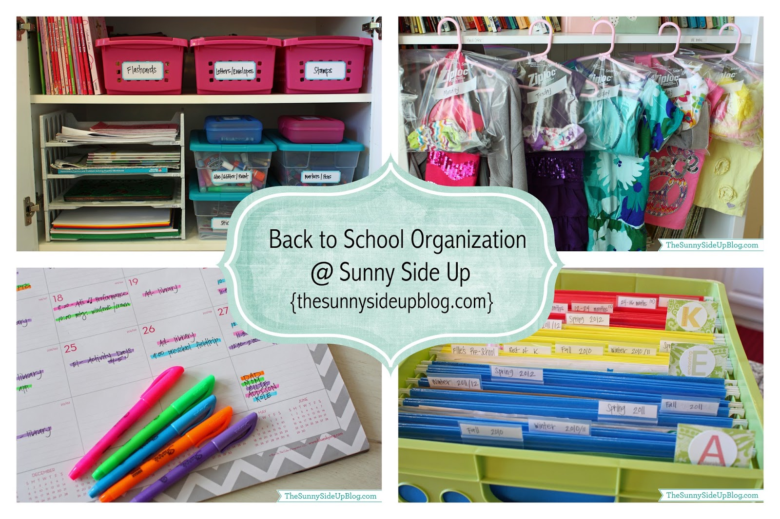 Back to school organization re run the sunny side up blog - Back to school organization ...