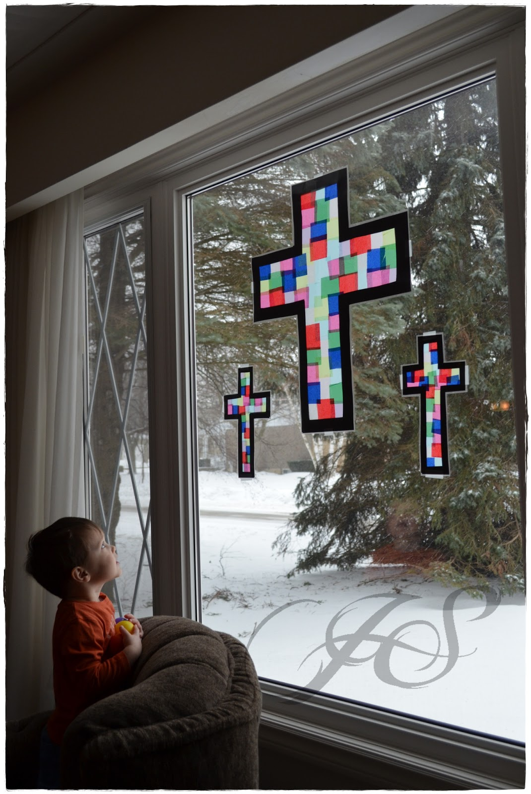 "Bringing Out The Kid In Me: ""Stained glass"" Window Decorations"