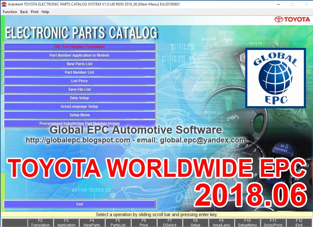 TOYOTA EPC 2018.06 (WORLDWIDE)