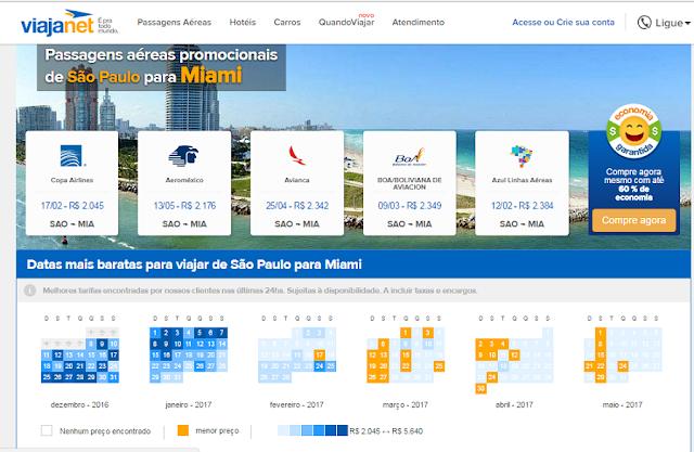 Como achar passagens aéreas promocionais e super baratas para Miami