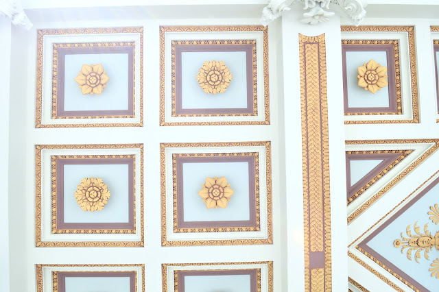 getty villa ceiling