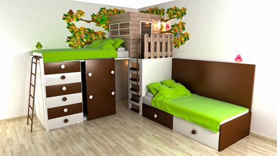 Dormitorios infantiles divertidos dormitorios con estilo - Habitaciones ninos originales ...