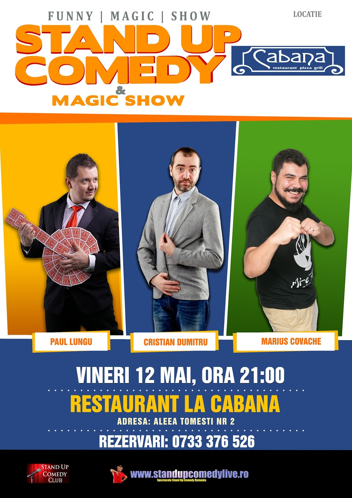 Stand-Up Comedy & Magic Show Vineri 12 Mai Bucuresti