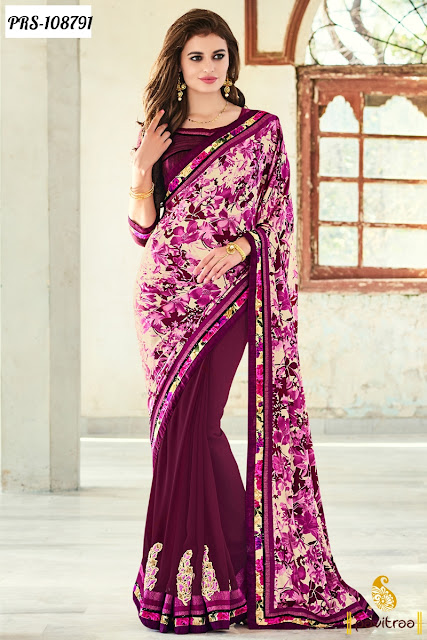 Latest Printed Work Wholesale Sarees Online Shopping Collection with Lowest Price