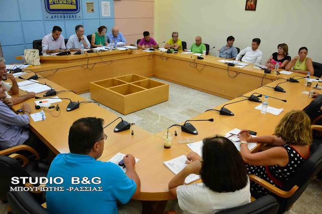 Με 20 θέματα συνεδριάζει το Δημοτικό Συμβούλιο στο Ναύπλιο