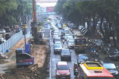 Pengerjaan LRT Palembang