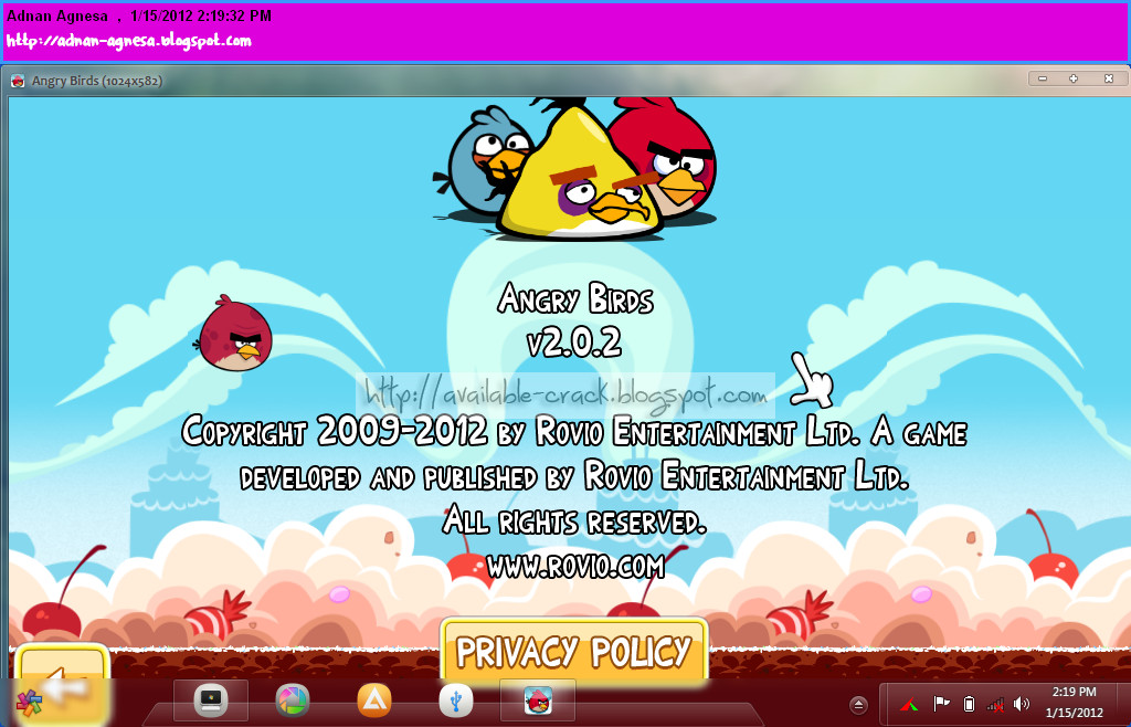 Angry Birds (free version) download for PC