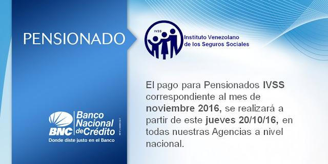 PENSIONADOS. A partir de este Jueves 20/10/16, podrás cobrar el pago correspondiente al  mes de octubre 2016