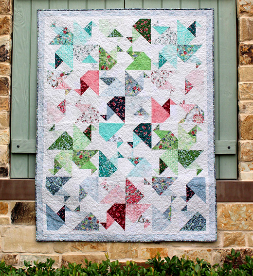 Serene Sky Quilt Free Pattern Designed by Flaurie & Finch, featuring Serene Sky Collection, The Pattern By RJR Fabrics