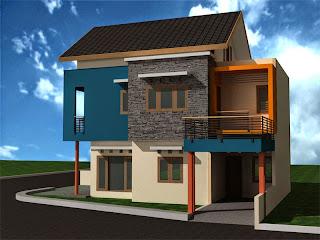 Bentuk rumah minimalis 2 lantai